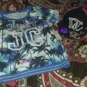 2pc girls nwt lot juicy couture size 14 & dc